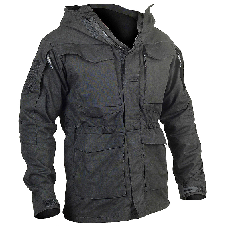 New Outdoor M65 Windproof Breathable Military Fan Men Windbreaker Camouflage Tactical Field Jacket Male Hooded Pocket Army Coat(China)