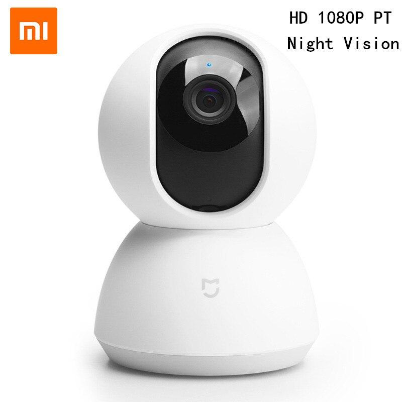 Xiaomi mijia sem fio 360 ângulo panorâmico câmera ip pt com  cabeça berço hd 1080 p wifi em dois sentidos de áudio câmera rede  segurança em casaCâmeras de vigilância