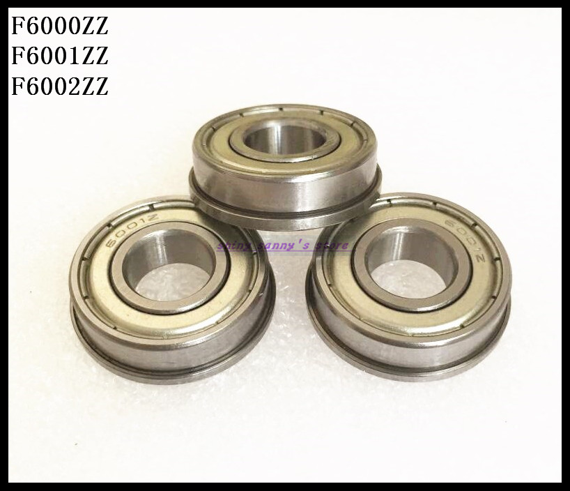5pcs/Lot F6001ZZ F6001 ZZ 12x28x8mm Metal Shielded Flange Deep Groove Ball Bearing Brand New 5pcs lot f6002zz f6002 zz 15x32x9mm metal shielded flange deep groove ball bearing