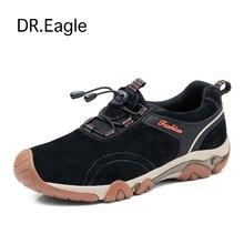 Dr. Орел горный обувь мужчин рыбалка Спортивное походная Сапоги и ботинки для девочек восхождение прогулки Спортивная обувь из натуральной кожи Пеший Туризм Мужская обувь 38-44