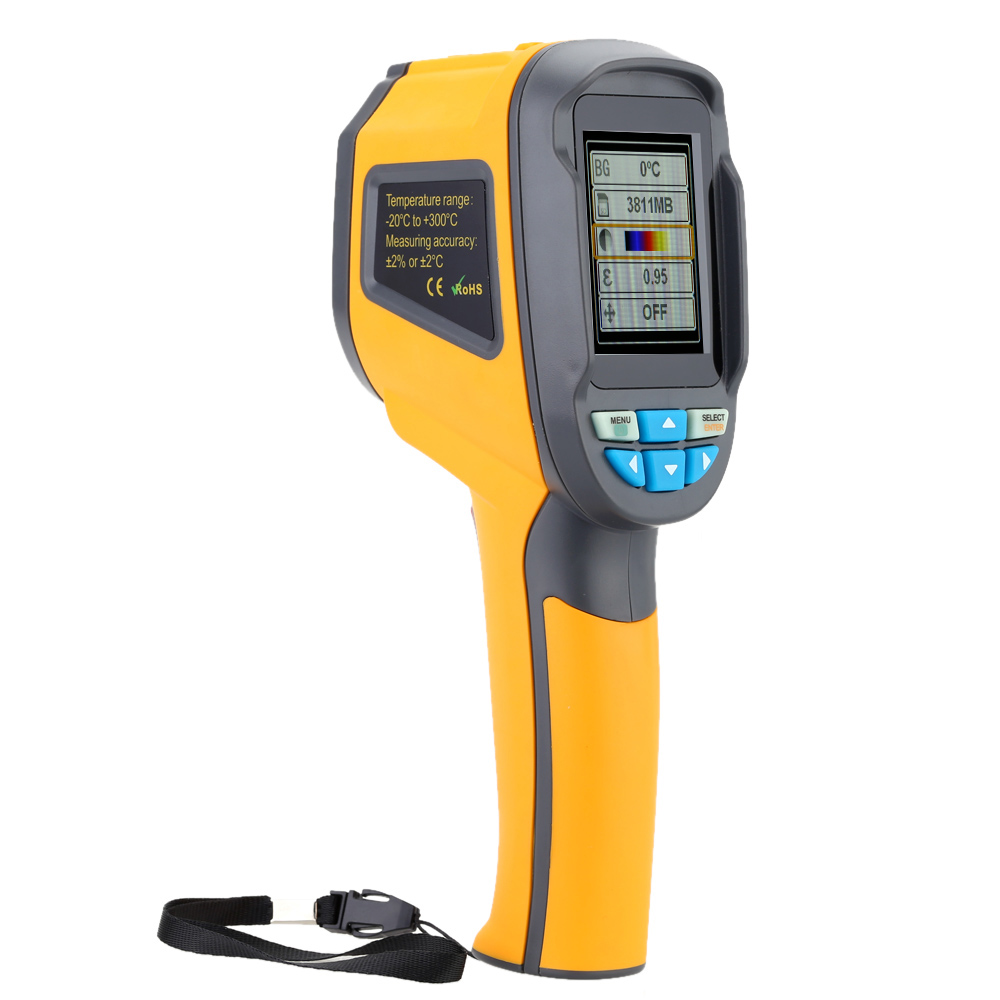 HT 02 HT 02D Thermal Camera Infrared Thermometer termometro digital thermostat Color Imaging Camera Temperature meter