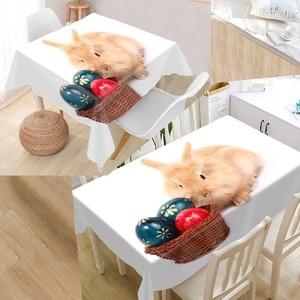 Image 5 - New Arrival niestandardowy królik obrus wodoodporna tkanina Oxford prostokątny obrus Home obrus na imprezę