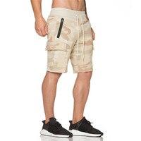 2017 New Men Camouflage Gyms Shorts Bodybuilding Calf Length Jogger Mens Shorts Sweatpants Fitness Man