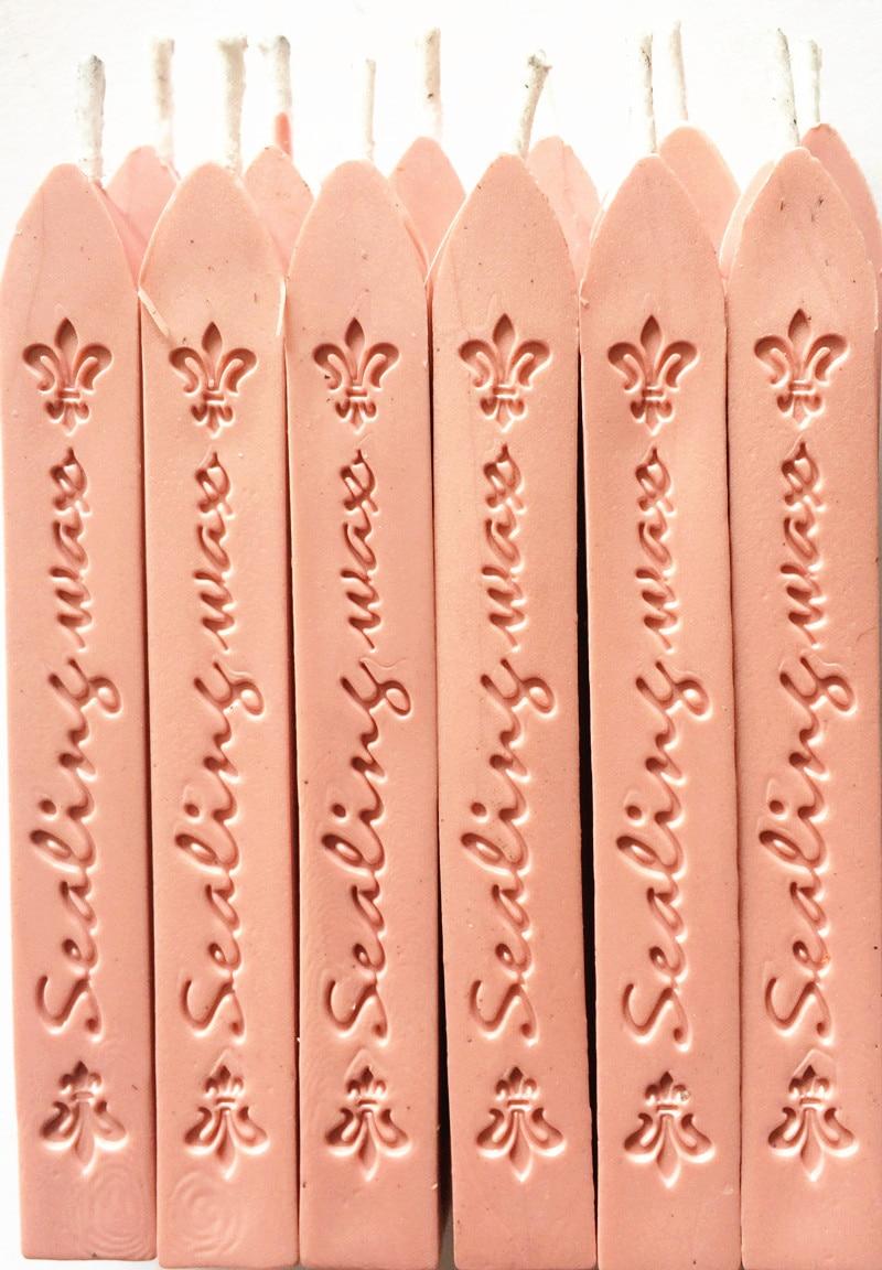 Új 12PCS Vintage rózsaszín viasz tömítés faragott botok egyéni - Művészet, kézművesség és varrás