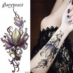 Glaryyears 26 дизайнов 1 лист Поддельные Черный Алфавит тела татуировки стикер новый временный водонепроницаемый рука шеи DIY искусство для женщин...