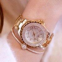 New Fashion Famous Brand Full Diamond Bracelet Big Quartz Watch Luxury Lady Dress Watch Rhinestone Bling Crystal Bangle Watches