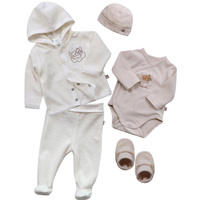 Baby clothes 5pcs pack set baby newborn romper+hat+shoes+pants sets baby boys girls clothing high quality baby gift clothing set