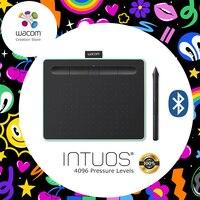 와콤 Intuos CTL-6100WL 무선 Digital 태블릿 Graphic 된 로고와 정 4096 압력 와 Levels 3 덤 소프트웨어 + Gift 팩