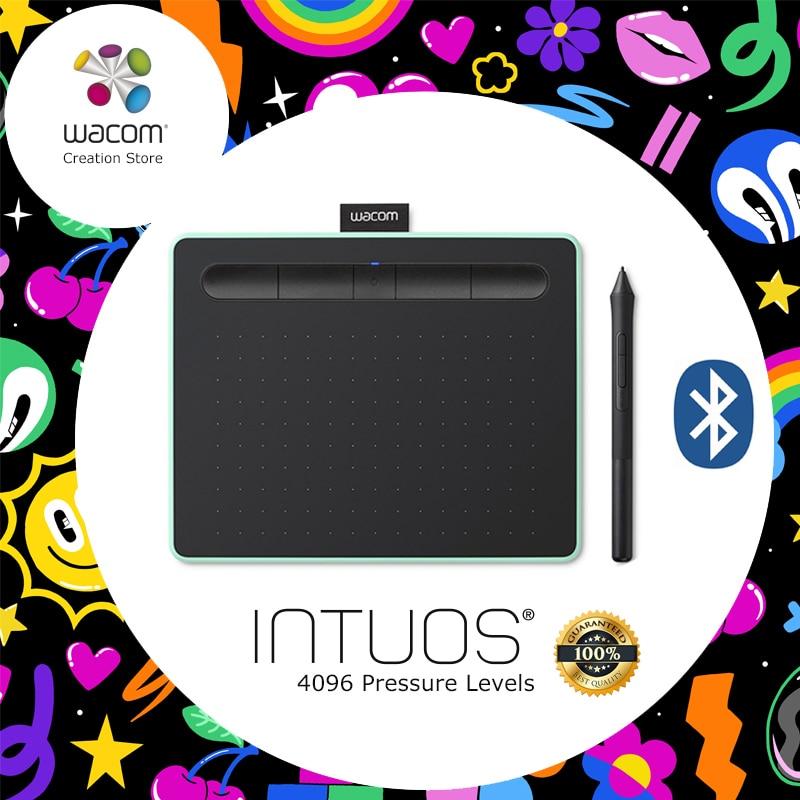 Wacom Intuos CTL-6100WL Sans Fil tablette numérique Graphique Dessin Comprimés 4096 Niveaux de Pression avec 3 Bonus Logiciel + Cadeau Packs