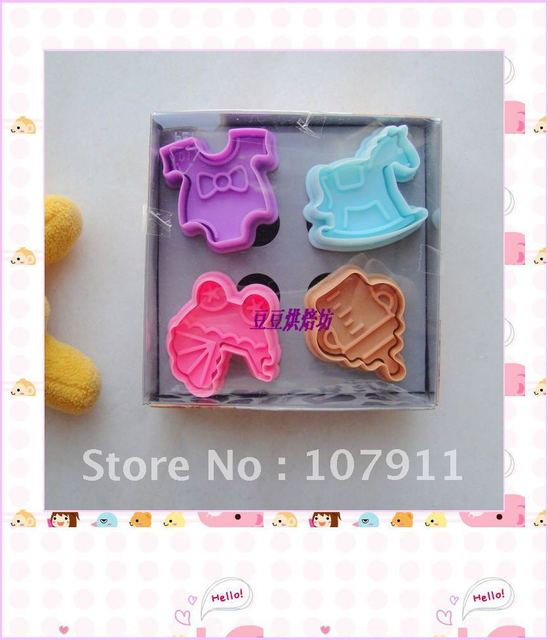4Pcs Cookie Cake Decoration,hobbyhorse,cake print mold cake tools,toast print mold.cookie cutter