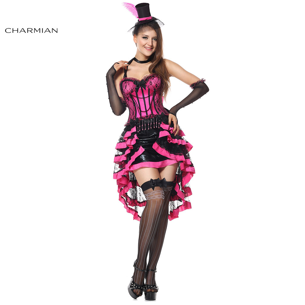 charmian deluxe burlesque beauty halloween costume for women performance halloween carnival oktoberfest costume corset dress - Cheap Halloween Dresses