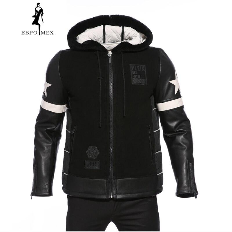 Garçon En Style Vers Super Nouveau Canard Peau Hiver Jeune Black Vêtements Manteau Hommes Pour De Haut Tendance Mode Le Veste Gamme Bas Mouton Fourrure Star vm8nN0w