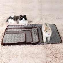 Cooling Pad for Dogs Pet Summer Sleep Bed Cat Puppy Ice Silk Washable Soft Breathable Mat Indoor Outdoor or in the Car