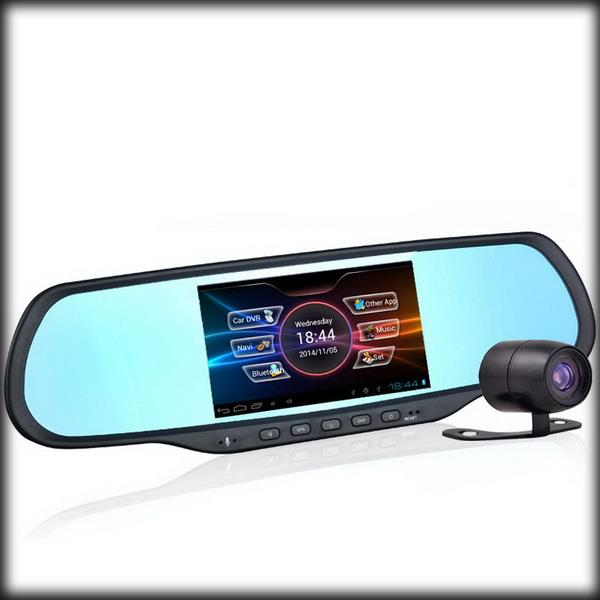 Rearview-Mirror Camera Android Gps Navigation Dual-Lens 170-Degree Dhl 1080P By 5inch