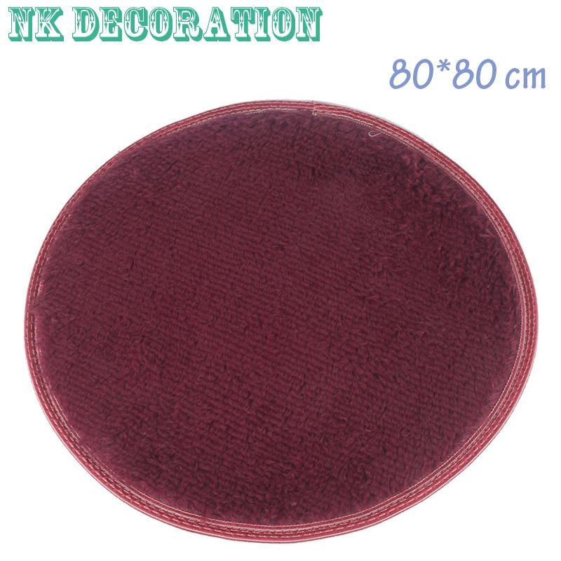 order 1 piece nk decoration 1pcs 8080cm bathroom carpets soft doormat floor rugs round not non