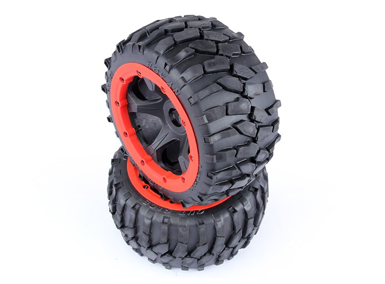 rc car spare part rear wheel with gravel tire for 1/5 scale HPI Rovan KM Baja 5B