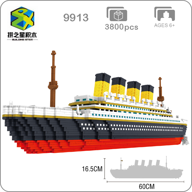 Classic Movie Titanic Big Cruise Ship Boat 3D Modle DIY Micro Mini Nano Blocks Bricks Assembly Diamond Building Toy CollectionClassic Movie Titanic Big Cruise Ship Boat 3D Modle DIY Micro Mini Nano Blocks Bricks Assembly Diamond Building Toy Collection