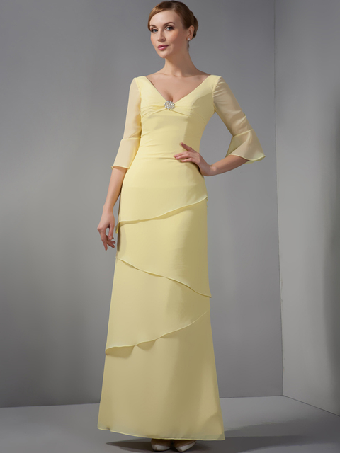 Yellow dresses for mother of the bride
