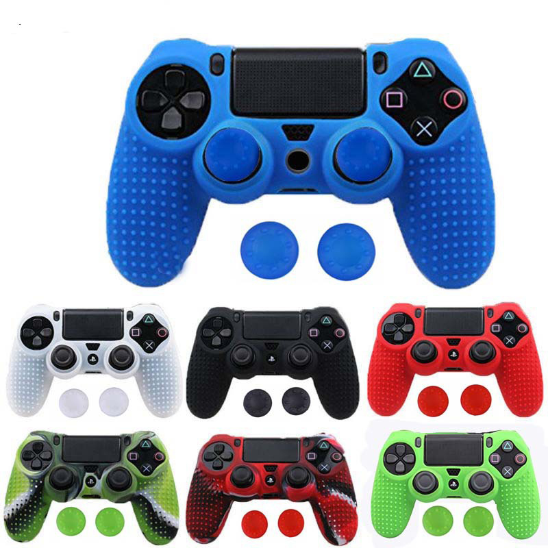 for Dualshock 4 Case Studded Anti-slip Silicone Cover Skin for Sony PlayStation 4 for PS4 DS4 Pro Slim Controller & Stick Grip