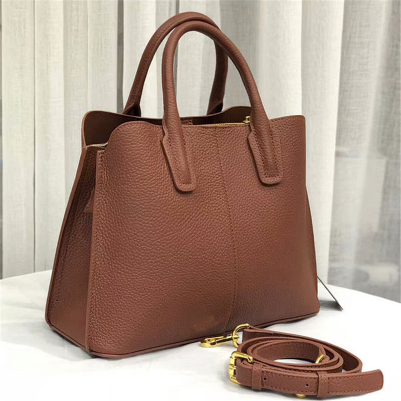 Genuine leather Womens Fashion Top-handle Bag High Quality Real Leather Soft Shoulder Bag Solid ColorGenuine leather Womens Fashion Top-handle Bag High Quality Real Leather Soft Shoulder Bag Solid Color
