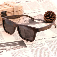2019 New Fashion Retro Men's Polarized Sunglasses UV400 Handmade Green Bamboo wood Glasses UV400 Protective Glasses wholesale