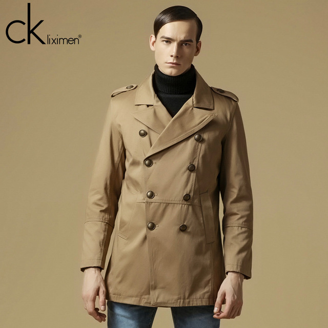 CKLIXIMEN Brand Jackets New 2016 Autumn Spring Casual Jacket Windproof Long Trench Men's Clothing Double Breasted Coat A0896