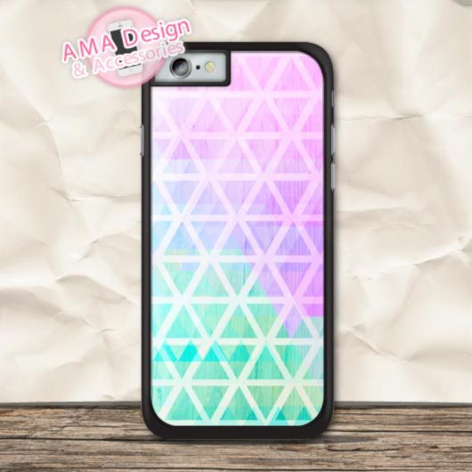 Pastel Mint Pink Tribal Aztec Cover Case For iPhone X 8 7 6 6s Plus 5 5s SE 5c 4 4s For iPod Touch
