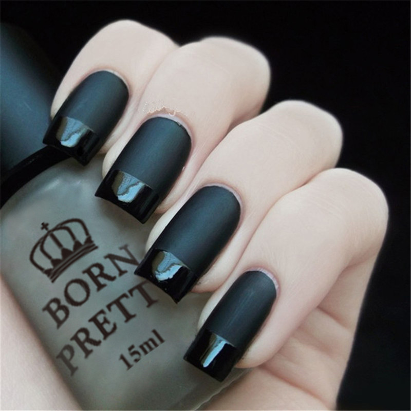 BORN PRETTY Super Matte Change Surface Glossy Oil Nail Polish Varnish for Normal Regular ...