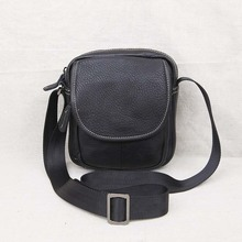 AETOO Leather men's shoulder bag Messenger mini bag head layer leather casual men's youth small bag цена