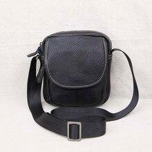 лучшая цена AETOO Leather men's shoulder bag Messenger mini bag head layer leather casual men's youth small bag