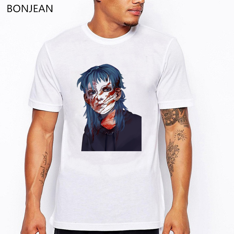 Sally face t shirt men grunge Aesthetic clothes male fans custom tshirt homme summer game shirt white tops geek t-shirt tees image