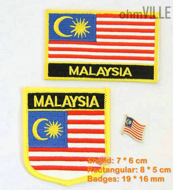 2016 Sale Patches For Clothing Malaysia Flag Patch Embroidery