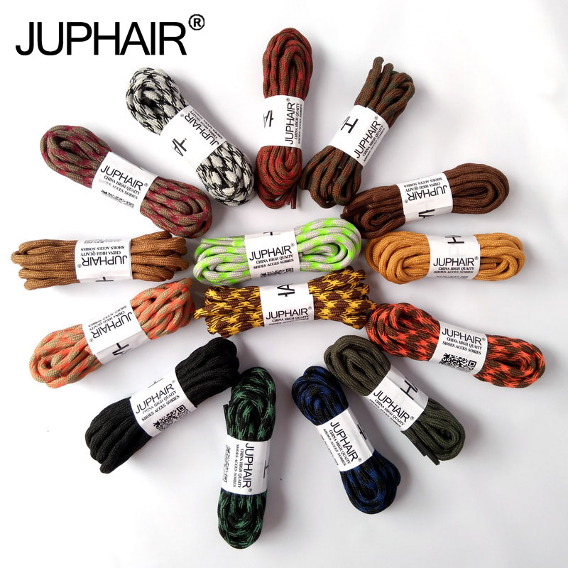JUP1 Pack New Bright Colors Hiking Walking Two Toneds Rope Lace Replacement Shoe Laces Round Rope Shoelaces For Basketball Boost