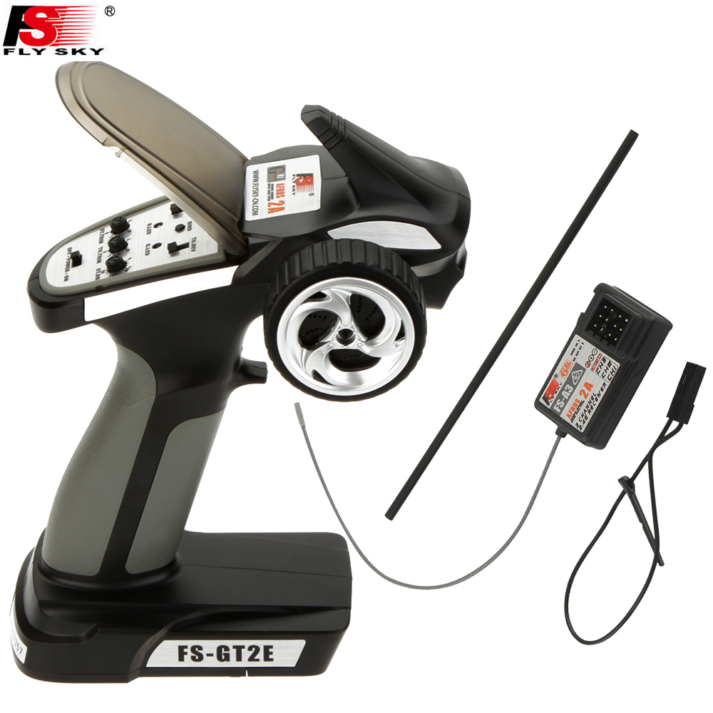 1pcs Original Flysky Transmitter FS GT2E AFHDS 2A 2.4g 2CH Radio System for RC Car Boat with FS A3 Receiver(No Box)-in Parts & Accessories from Toys & Hobbies