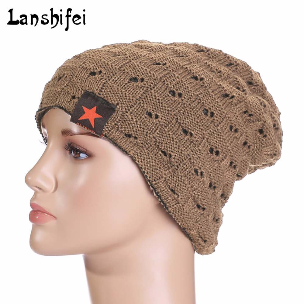 Unisex Knitting Cap Winter Snow Caps Unisex Dual-side Wearing Hat Casual Fashion Five-pointed Stars Pattern Warm Hat Beanies fashion red band embellished five pointed stars pattern jazz hat for kids