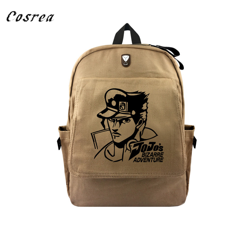 Anime JOJO'S Bizarre Adventure Canvas Schoolbag Men Women Knapsack Travel bags for Teenagers high quality Backpack  Schoolbag(China)