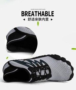 Image 5 - 36 46 יוניסקס קיץ מים נעלי גברים חמש אצבע חיצוני במעלה הזרם שכשוך נטו טיולים חמישה טופר טיולים קל משקל לנשימה נעליים