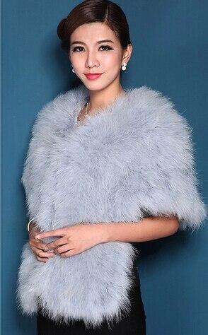 Женская Роскошная шаль из натурального страусиного пера, шаль из пашмины, свадебная шаль, Модный меховой палантин, роскошный шаль, PC15052301 - Цвет: light blue