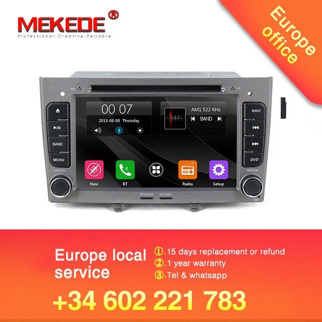 7 pouces 2din voiture gps radio stéréo pour Peugeot 408/Peugeot 308 voiture lecteur dvd avec commande au volant, BT, canbus livraison gratuite