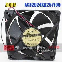 Новый Оригинальный ADDA AG12024XB257100 DC24V 0.46A 120*120*25 ММ 12 СМ Инвертор вентилятор Охлаждения