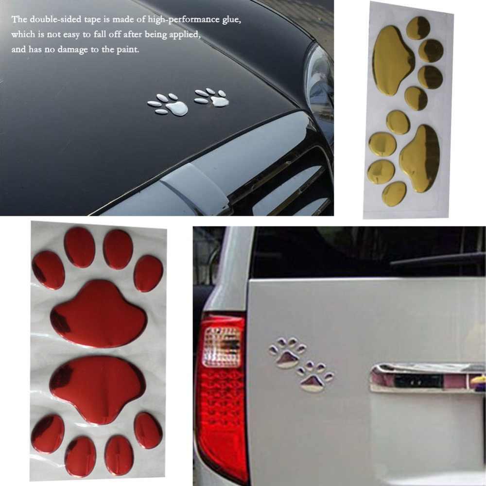 Pares PVC 3D Adesivos de Carro Mini Urso Pata Do Cão Design Criativo Personalidade Adesivo Zero Kawaii Bonito Adesivos À Prova D' Água