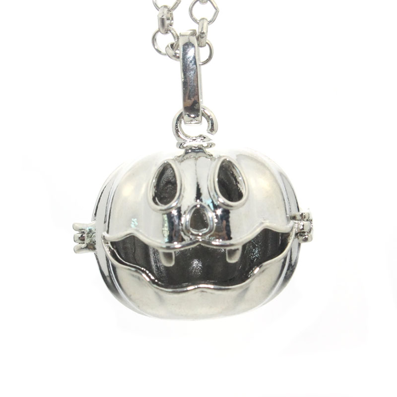 18MM Copper Harmony Ball Chime Sound Mexican Bola Floating Locket Baby Caller Mother Child Necklace Gift 040523