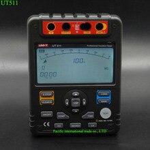 Best price UNI-T UT511 Digital Insulation Resistance Meter  Megohmmeter Auto Range 1000V Ohmmeter Voltmeter LCD Backlight with TOOLBOX