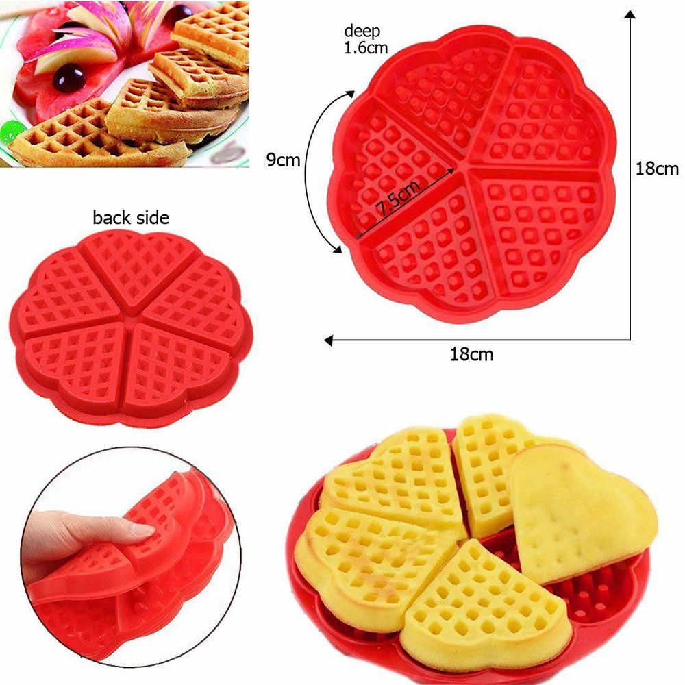 3D Siliconen Wafel Mold Maker Pan Magnetron Bakken Cookie Cake Muffin Bakvormen Moule Koken Gereedschap Keuken Accessoires Benodigdheden