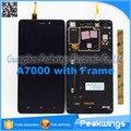 1280*720 ЖК-Дисплей Для Lenovo A7000 ЖК-Дисплей Дигитайзер Панель Экрана Ассамблеи с рамкой
