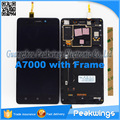 1280*720 display lcd para lenovo a7000 tela do painel de display lcd digitador assembléia com frame