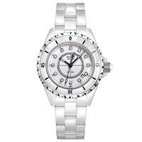 Буреи 18003 Швейцария часы женщины люксовый бренд J12 серии pearl Керамика календарь моды diamond white relogio feminino