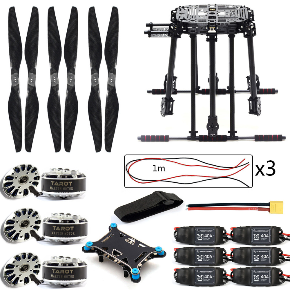 DIY ZD850 Frame Kit with Landing Gear 40A ESC 1555 Props Shock Absorber FPV 6 Axle Drone F19833-B agility gear fixed weave pole kit 6 pole kit use with 3 4 pvc