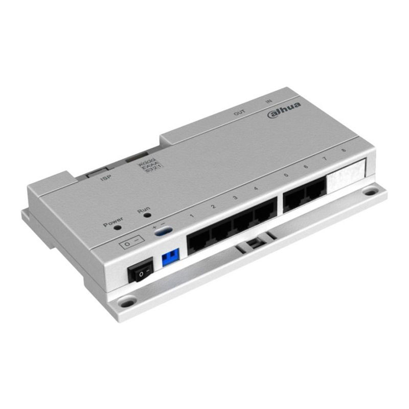 DH DOORPHONE SWITCH 6PORT POE For IP Intercom VTNS1060A