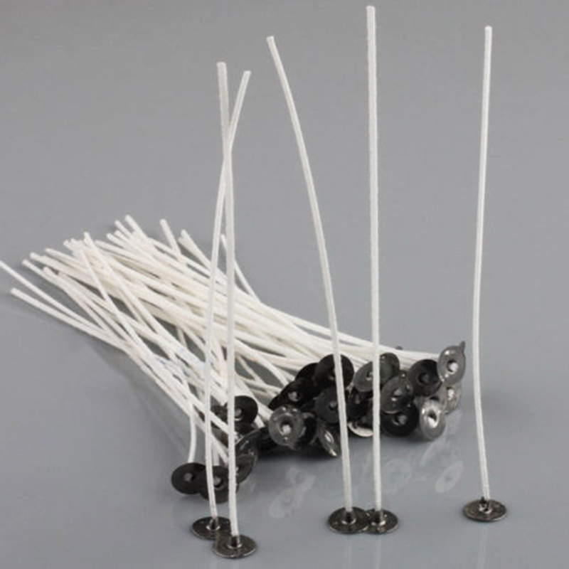 30pcs Candle Wicks 10cm COTTON Core Candle Making Supplies Kits Low Smoke Home Garden Supplies